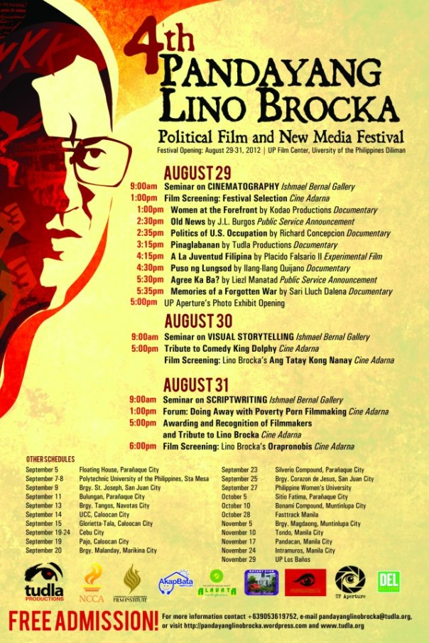 4th Pandayang Lino Brocka Political Film and New Media Festival