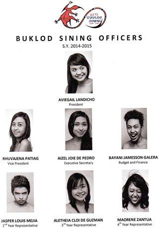 BUKLOD SINING OFFICERS 2014
